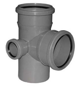 Крестовина двухплоскостная ПВХ внутренняя канализация